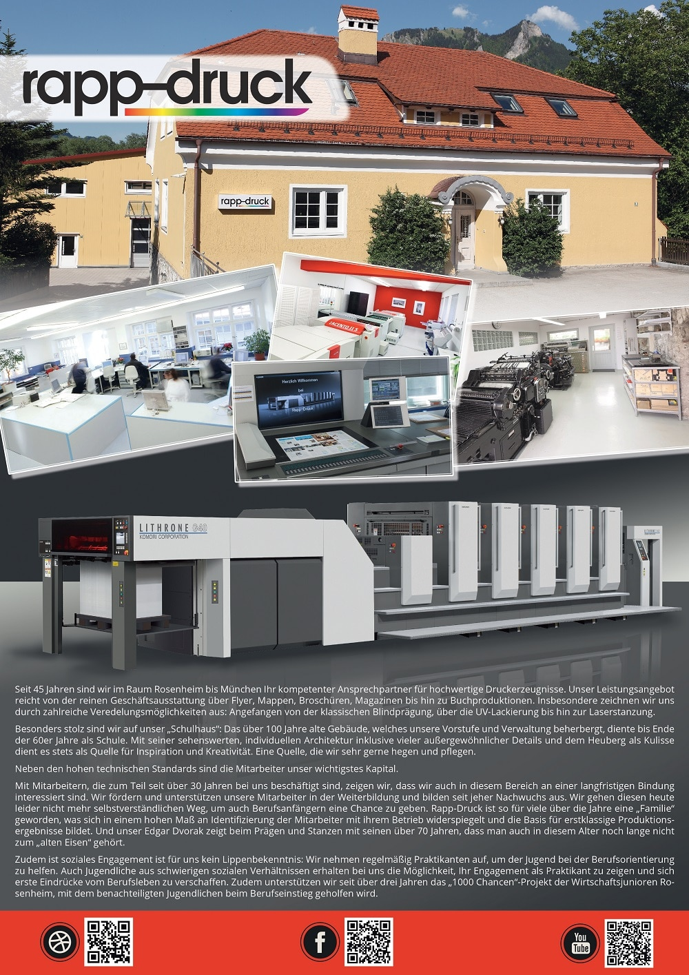 Plakat Berufsmesse Druckerei Rapp-Druck