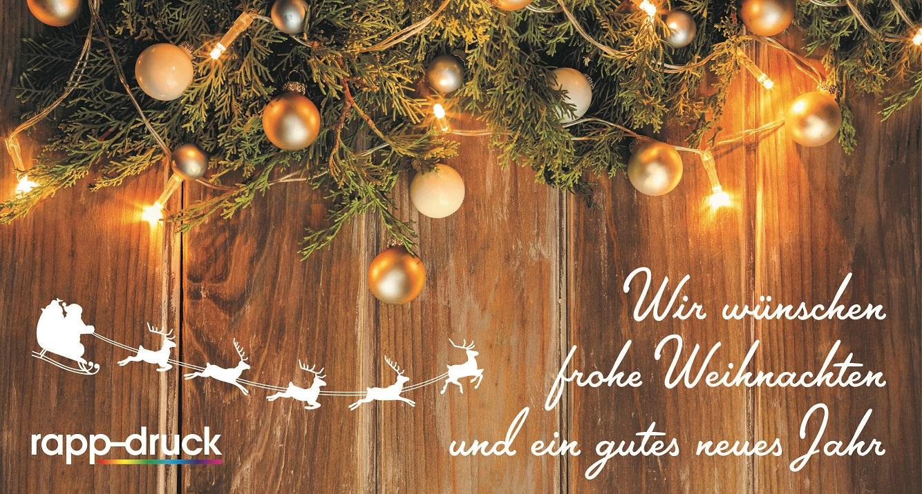 Druckerei Rapp-Druck Offsetdruck Weihnachtsgrüsse 2019