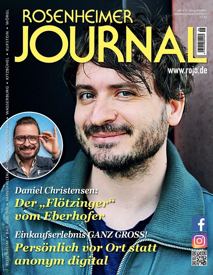 Titelbild des Rosenheimer Journal 12/2020 mit Daniel Christensen